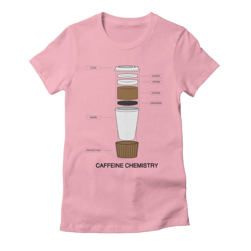 Caffeine Chemistry Women's Fitted T-Shirt by Slugamo's Threads