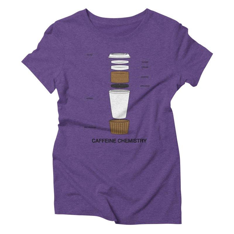 Caffeine Chemistry Women's Triblend T-Shirt by Slugamo's Threads