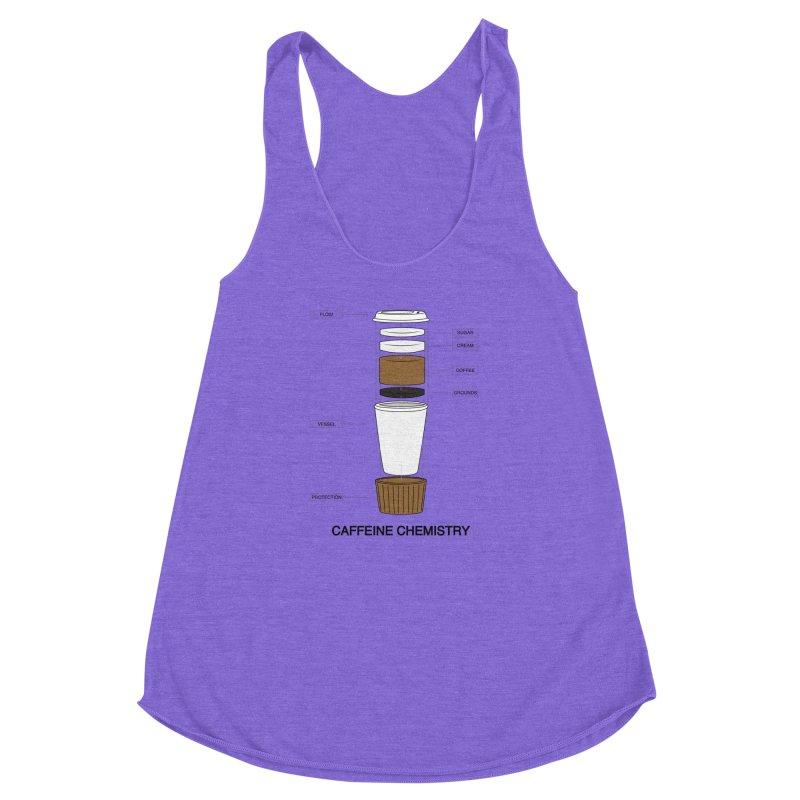 Caffeine Chemistry Women's Racerback Triblend Tank by Slugamo's Threads