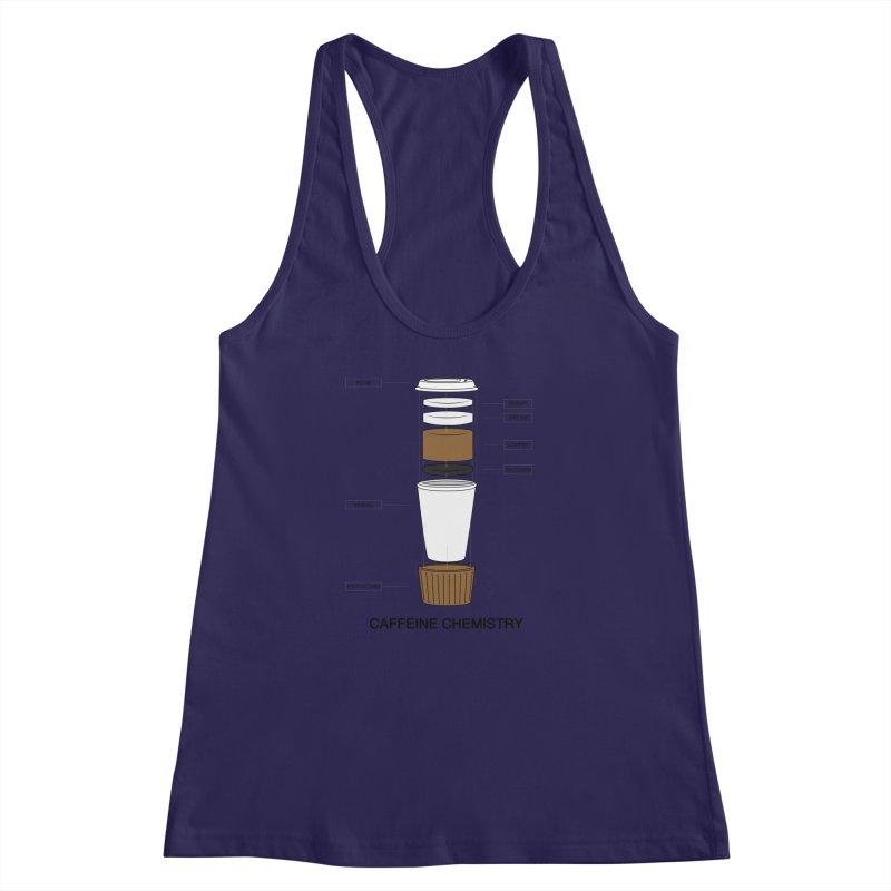 Caffeine Chemistry Women's Racerback Tank by Slugamo's Threads