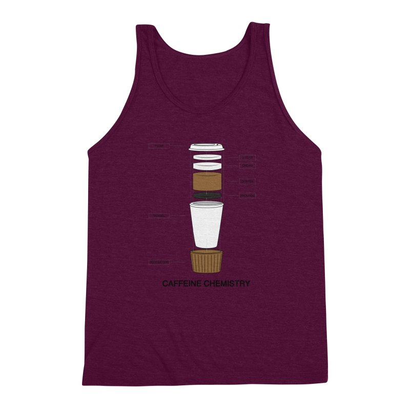 Caffeine Chemistry Men's Triblend Tank by Slugamo's Threads
