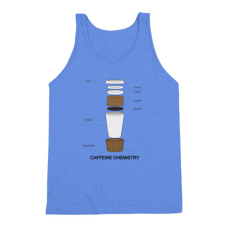 Caffeine Chemistry Men's Triblend Tank by Slugamo's Threads
