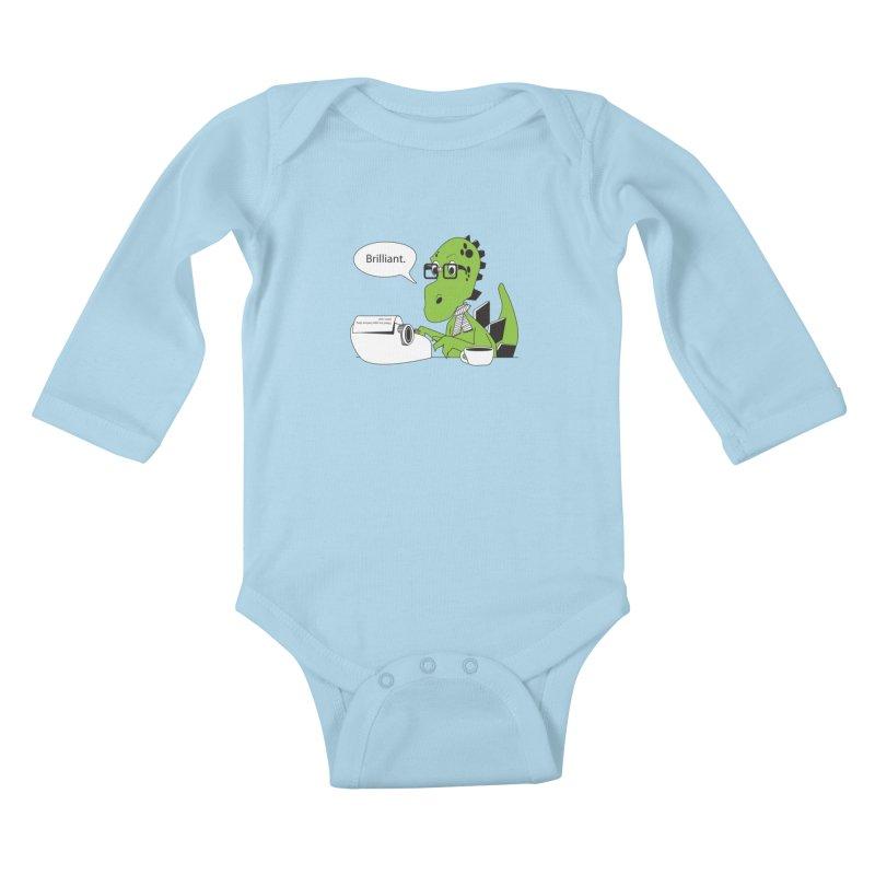 FIRST! Kids Baby Longsleeve Bodysuit by Slugamo's Threads