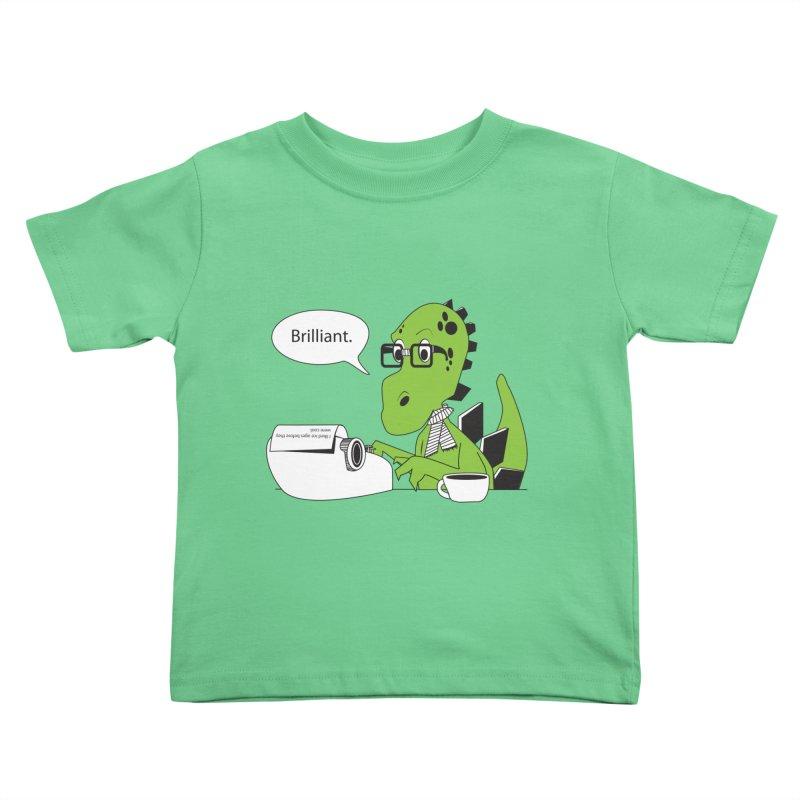 FIRST! Kids Toddler T-Shirt by Slugamo's Threads