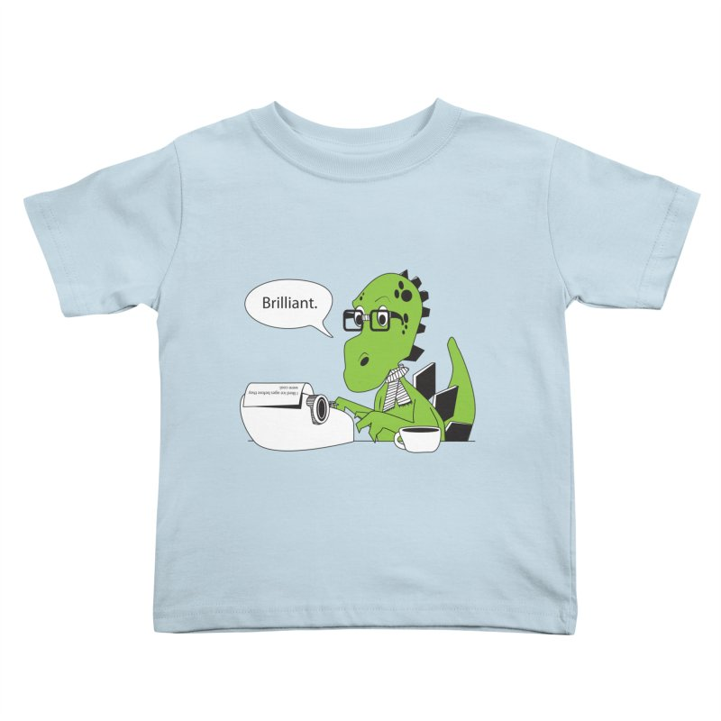 FIRST! Kids Toddler T-Shirt by Slugamo's Threads