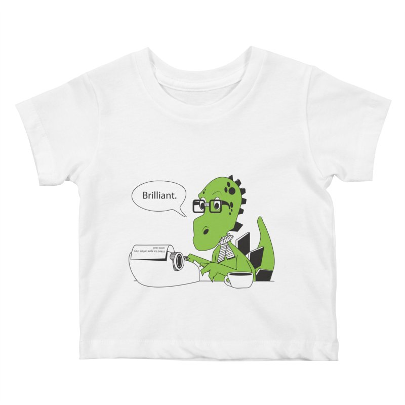 FIRST! Kids Baby T-Shirt by Slugamo's Threads