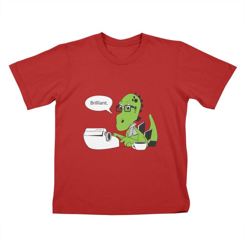 FIRST! Kids T-shirt by Slugamo's Threads