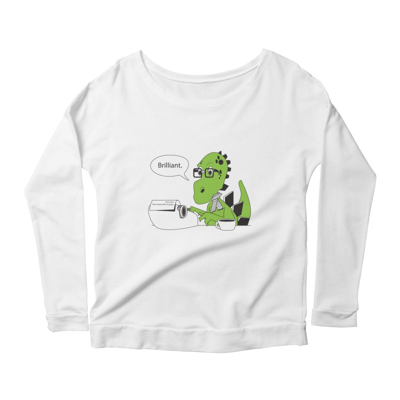 FIRST! Women's Longsleeve Scoopneck  by Slugamo's Threads