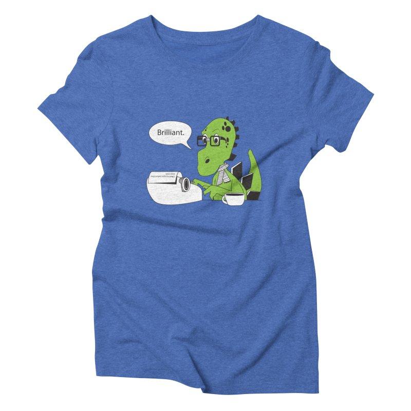 FIRST! Women's Triblend T-shirt by Slugamo's Threads