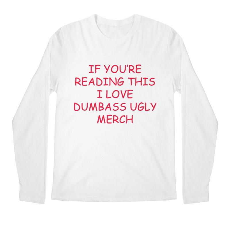 If You're Reading This Longsleeve in Men's Regular Longsleeve T-Shirt White by Awsten + Travis' Slumber Party