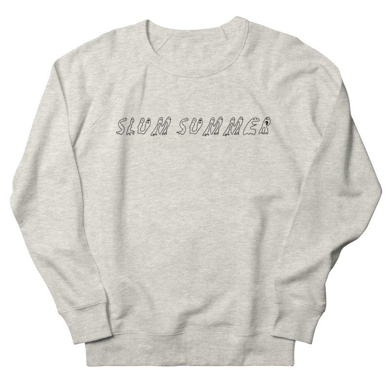 Straight Black Text Men's French Terry Sweatshirt by Slum Summer Merchandise