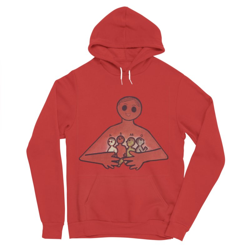 A-B-AB-O Men's Sponge Fleece Pullover Hoody by Slum Summer Merchandise