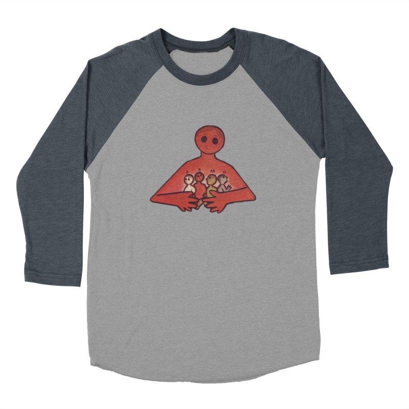 A-B-AB-O Men's Baseball Triblend Longsleeve T-Shirt by Slum Summer Merchandise