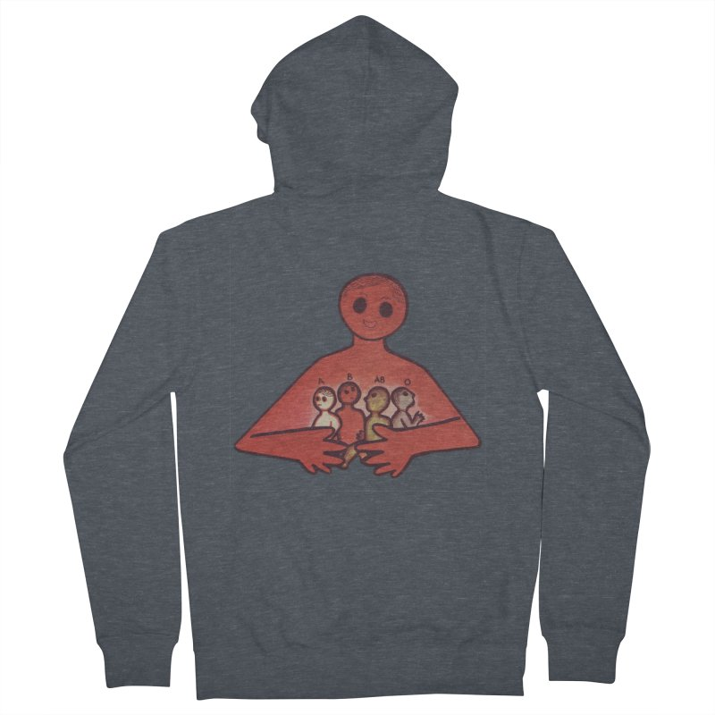 A-B-AB-O Men's French Terry Zip-Up Hoody by Slum Summer Merchandise