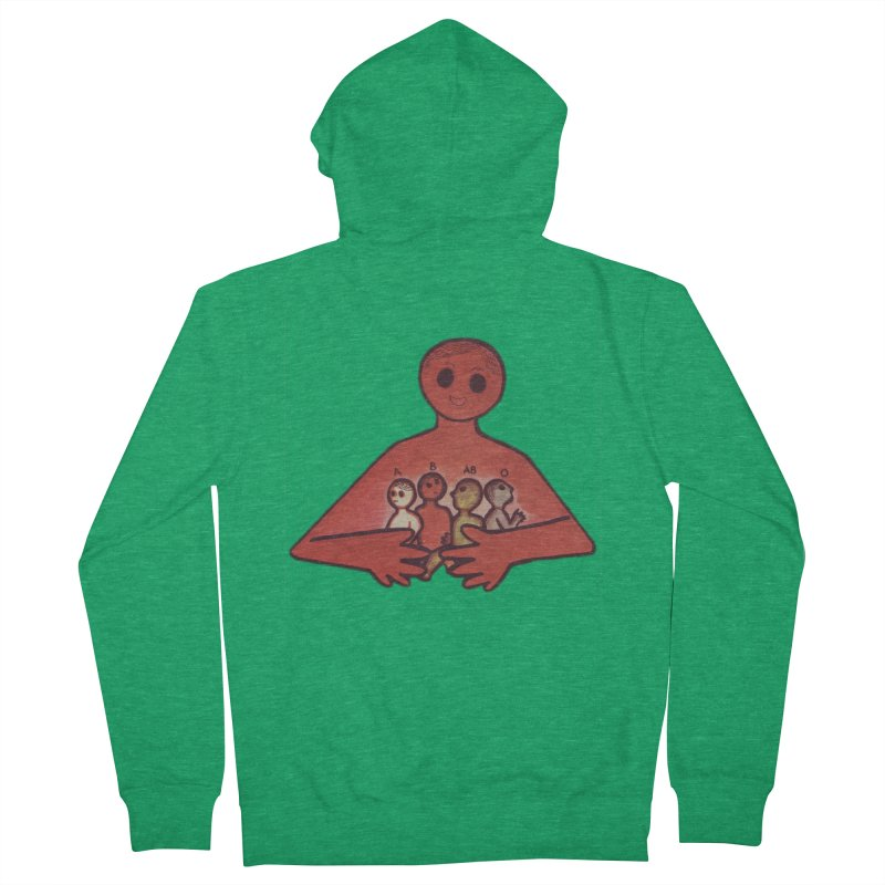A-B-AB-O Men's Zip-Up Hoody by Slum Summer Merchandise
