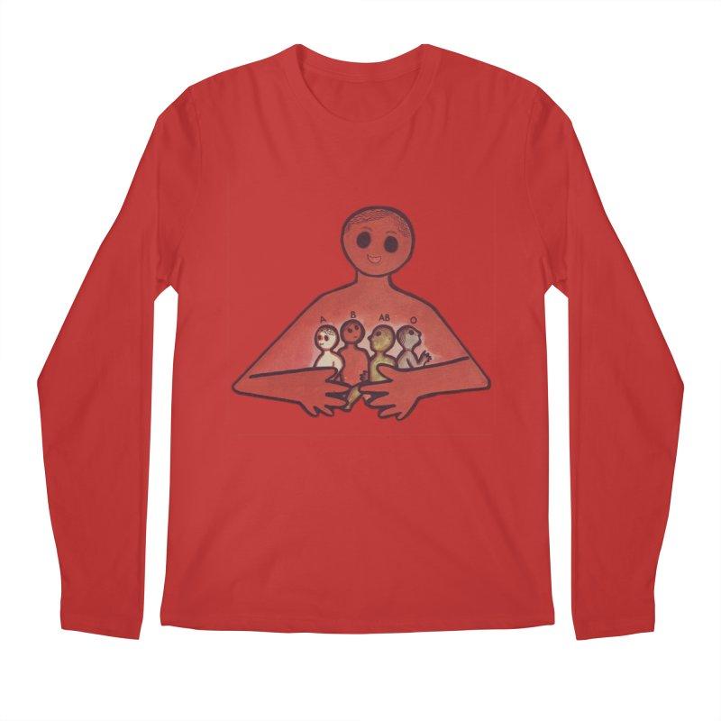 A-B-AB-O Men's Regular Longsleeve T-Shirt by Slum Summer Merchandise