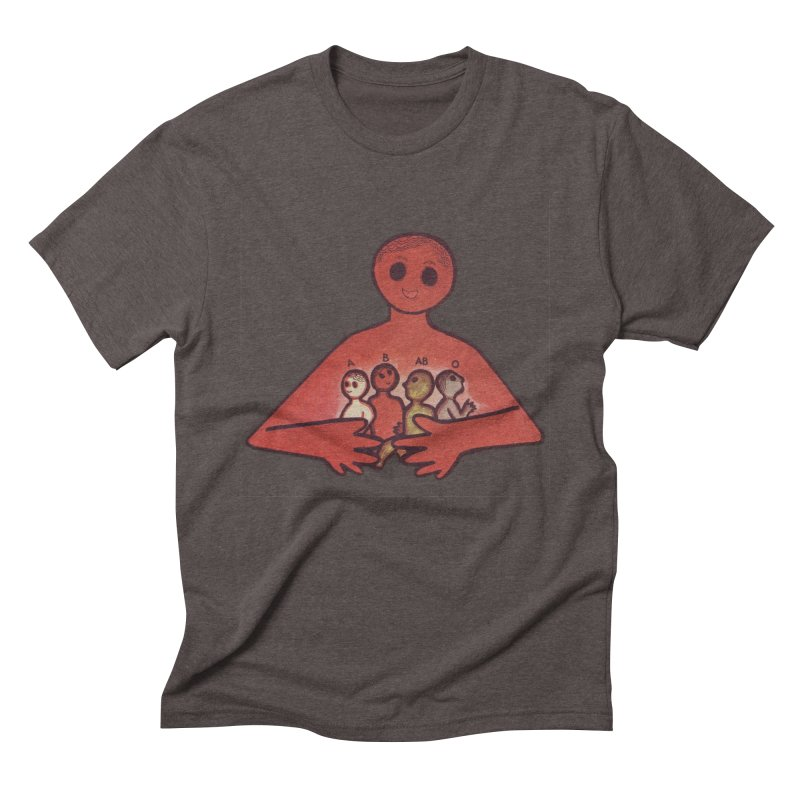 A-B-AB-O Men's Triblend T-Shirt by Slum Summer Merchandise