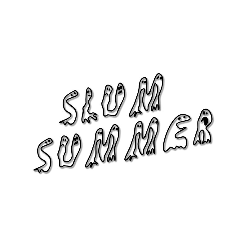 Stacked Black Text w/Shadow Accessories Bag by Slum Summer Merchandise