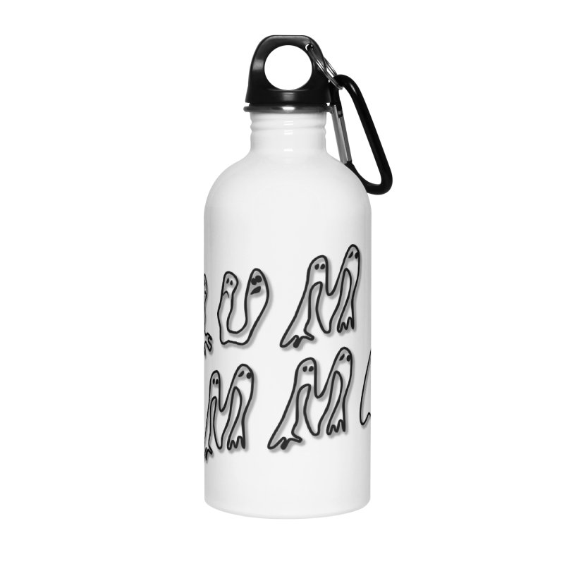 Stacked Black Text w/Shadow Accessories Water Bottle by Slum Summer Merchandise