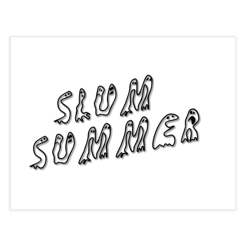 Stacked Black Text w/Shadow Home Fine Art Print by Slum Summer Merchandise
