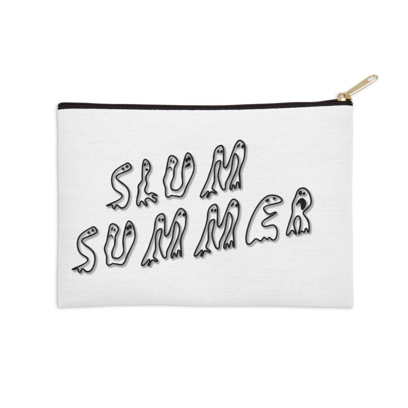 Stacked Black Text w/Shadow Accessories Zip Pouch by Slum Summer Merchandise