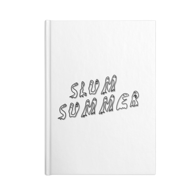 Stacked Black Text w/Shadow Accessories Lined Journal Notebook by Slum Summer Merchandise