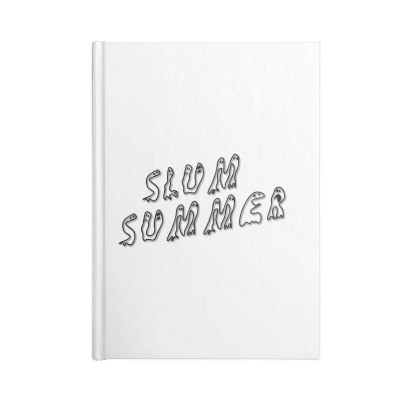 Stacked Black Text w/Shadow Accessories Notebook by Slum Summer Merchandise