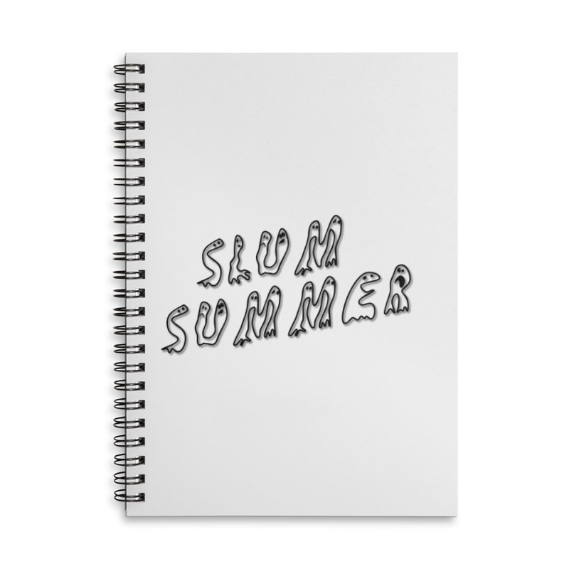 Stacked Black Text w/Shadow Accessories Lined Spiral Notebook by Slum Summer Merchandise