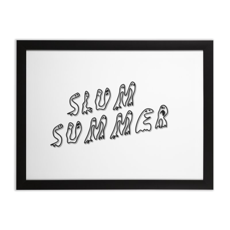 Stacked Black Text w/Shadow Home Framed Fine Art Print by Slum Summer Merchandise