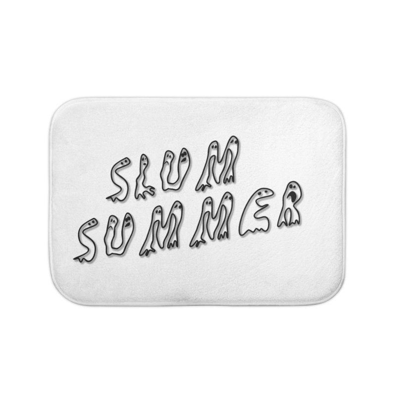 Stacked Black Text w/Shadow Home Bath Mat by Slum Summer Merchandise