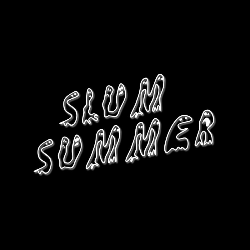 Stacked White Text w/Shadow Kids T-Shirt by Slum Summer Merchandise