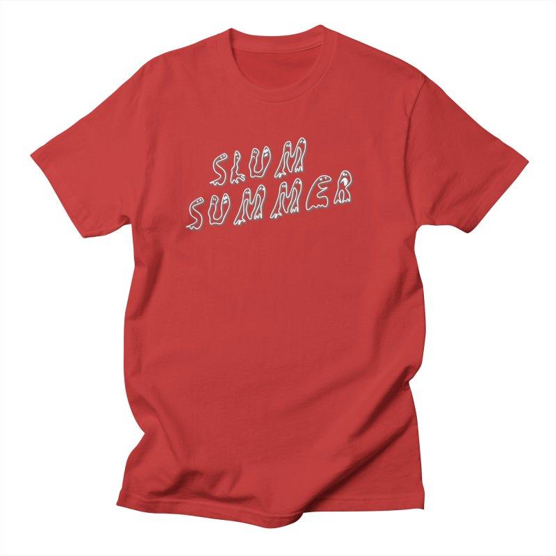 Stacked White Text w/Shadow Women's T-Shirt by Slum Summer Merchandise