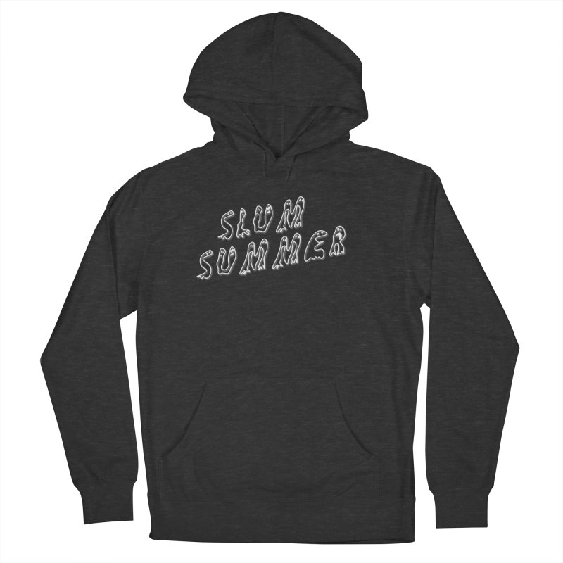 Stacked White Text w/Shadow Men's French Terry Pullover Hoody by Slum Summer Merchandise