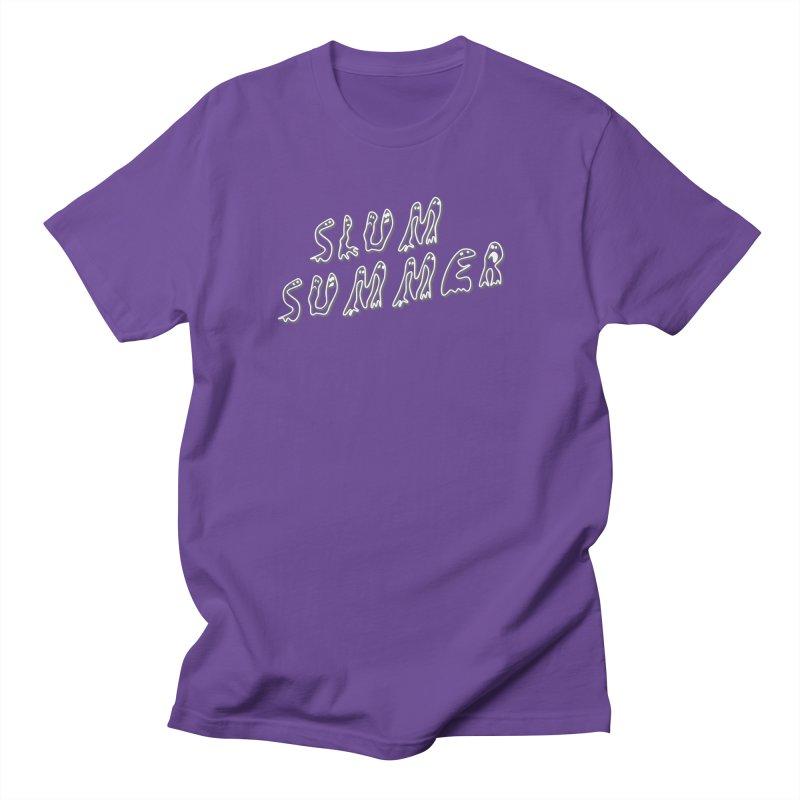 Stacked White Text w/Shadow Men's Regular T-Shirt by Slum Summer Merchandise