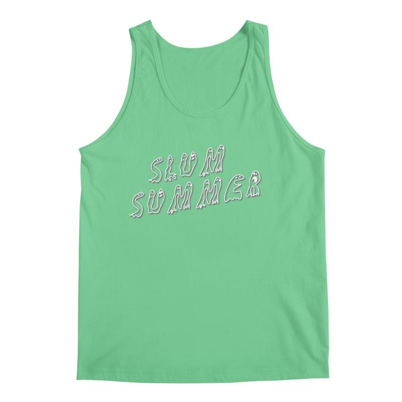 Stacked White Text w/Shadow Men's Tank by Slum Summer Merchandise