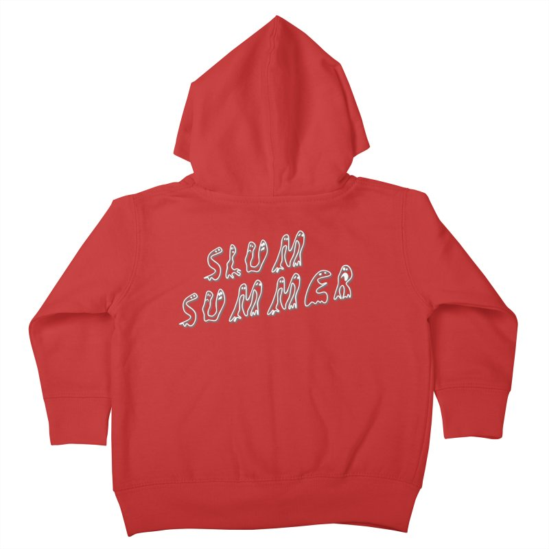 Stacked White Text w/Shadow Kids Toddler Zip-Up Hoody by Slum Summer Merchandise