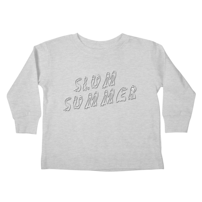 Stacked White Text w/Shadow Kids Toddler Longsleeve T-Shirt by Slum Summer Merchandise