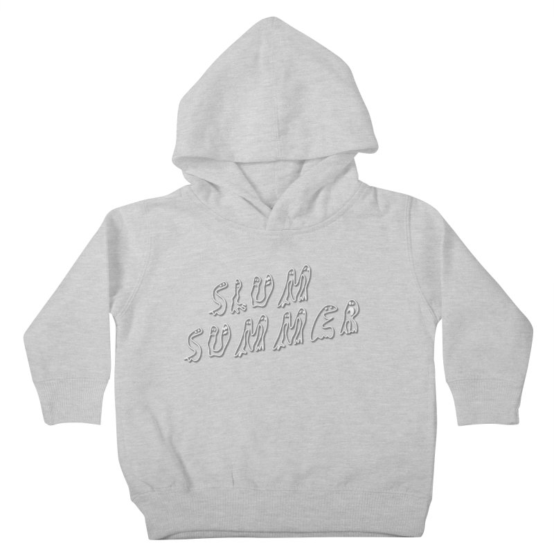 Stacked White Text w/Shadow Kids Toddler Pullover Hoody by Slum Summer Merchandise