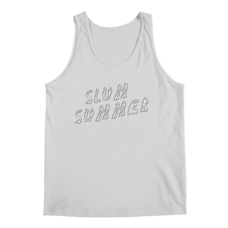 Stacked White Text w/Shadow Men's Regular Tank by Slum Summer Merchandise