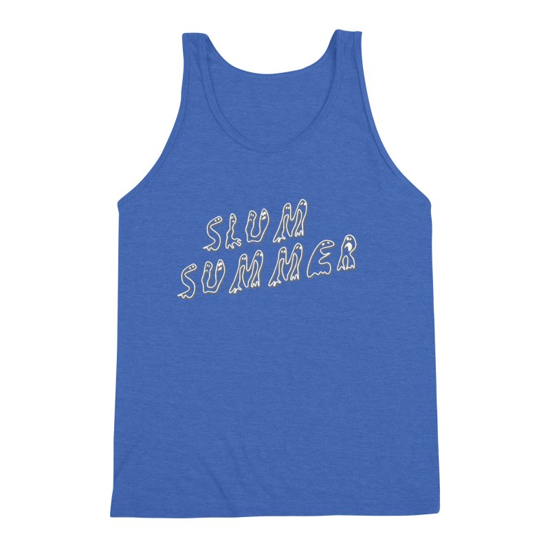 Stacked White Text w/Shadow Men's Triblend Tank by Slum Summer Merchandise