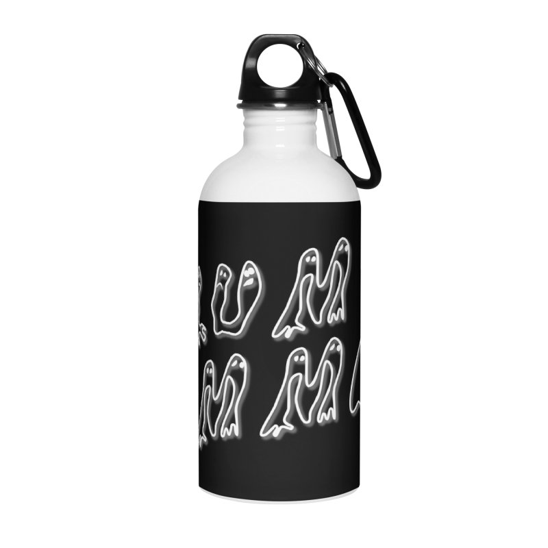 Stacked White Text w/Shadow Accessories Water Bottle by Slum Summer Merchandise
