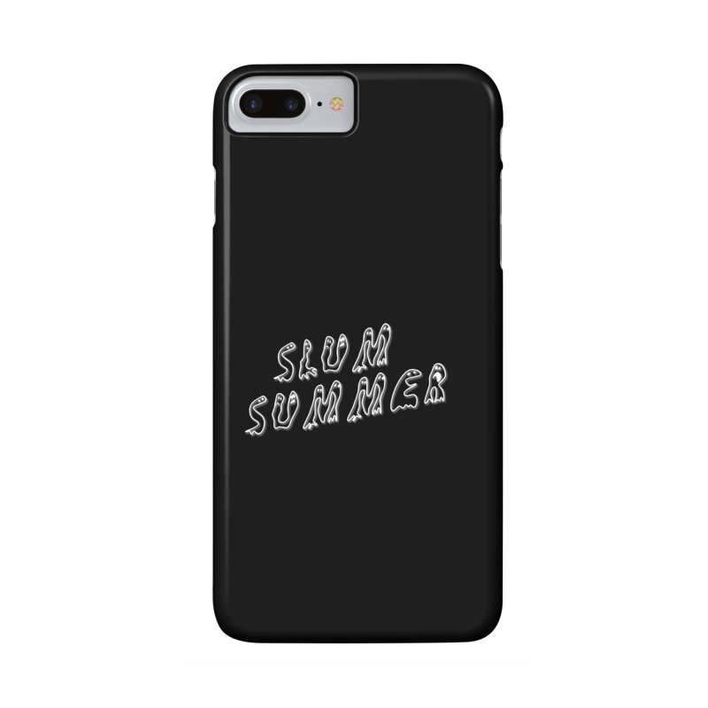 Stacked White Text w/Shadow Accessories Phone Case by Slum Summer Merchandise