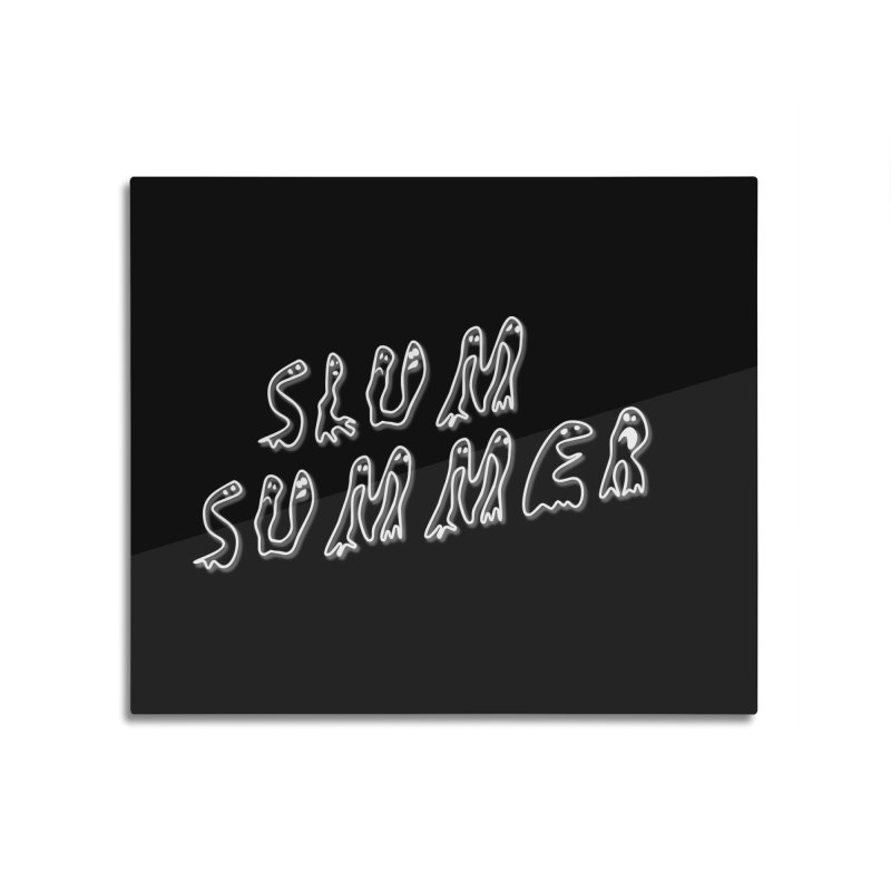 Stacked White Text w/Shadow Home Mounted Acrylic Print by Slum Summer Merchandise