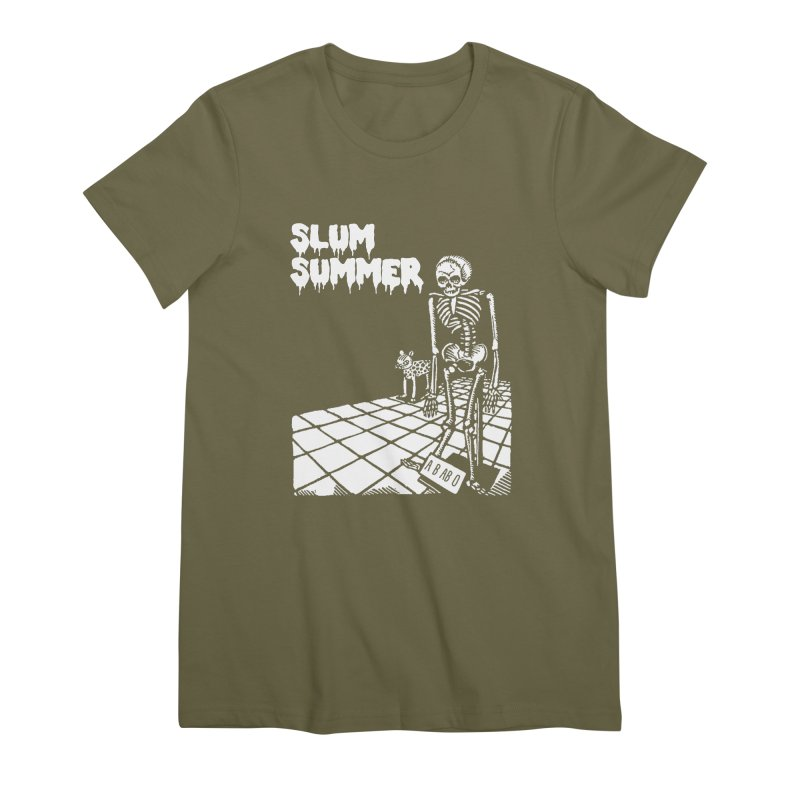 Skeleton ABABO Women's Premium T-Shirt by Slum Summer Merchandise