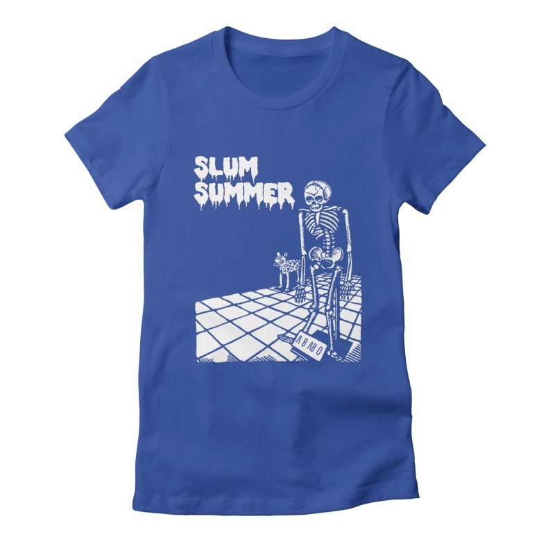 Skeleton ABABO Women's Fitted T-Shirt by Slum Summer Merchandise