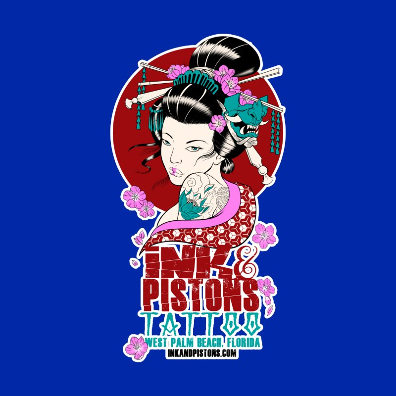 Ink and Pistons - Geisha Women's Longsleeve T-Shirt by Ink and Pistons | SlushBox