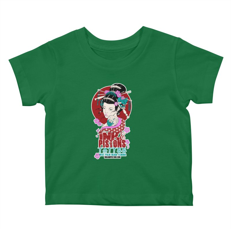 Ink and Pistons - Geisha Kids Baby T-Shirt by Ink and Pistons | SlushBox