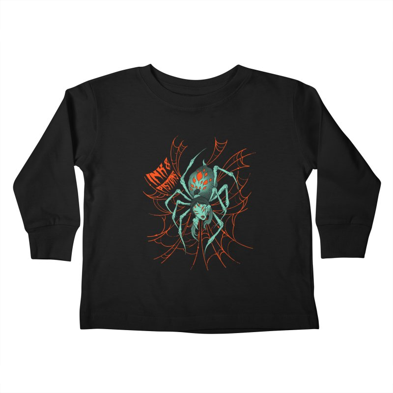 Ink and Pistons - Jorogumo Spider Kids Toddler Longsleeve T-Shirt by Ink and Pistons | SlushBox