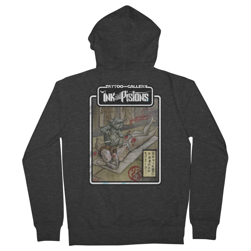 Ink and Pistons: Irezumi Wars Men's Zip-Up Hoody by Ink and Pistons | SlushBox