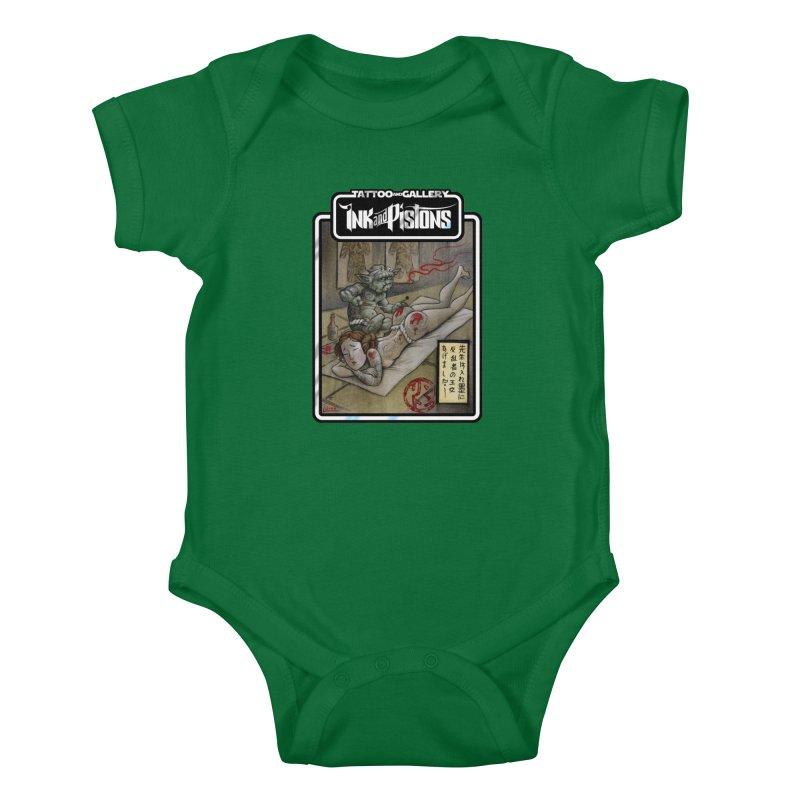 Ink and Pistons: Irezumi Wars Kids Baby Bodysuit by Ink and Pistons | SlushBox